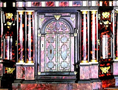 Tabernacolo dell'altare maggiore e monumento Provana